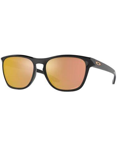 Oakley Manorburn Glasses Polished Black/Prizm Rose Gold