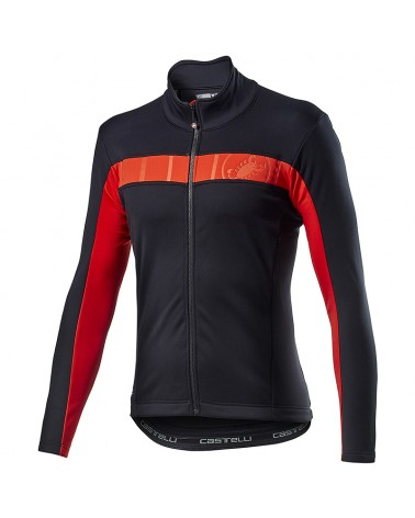 Castelli Mortirolo VI GTX Gore-Tex Windstopper Giacca Antipioggia/Antivento Uomo, Light Black