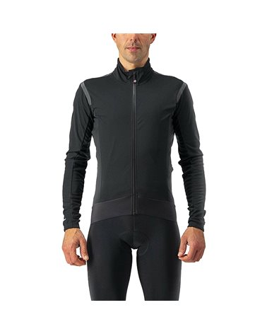 Castelli Alpha RoS 2 Light GTX Gore-Tex Windstopper Men's Cycling Jacket, Light Black/Black Reflex