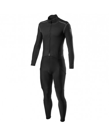 Castelli Sanremo RoS Thermosuit All-In-Oner Men's Cycling Winter Suit, Light Black Reflex (Progetto X2 Air Pad)