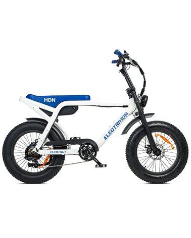 """Electri HDN e-Bike Fat 20"""" 250W, White/Blue"""