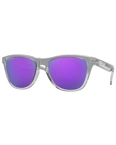 Oakley Frogskins Glasses Polished Clear/Prizm Violet