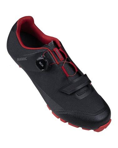 Mavic Crossmax Elite SL Men's MTB Cycling Shoes, Black/Haute Red/Black