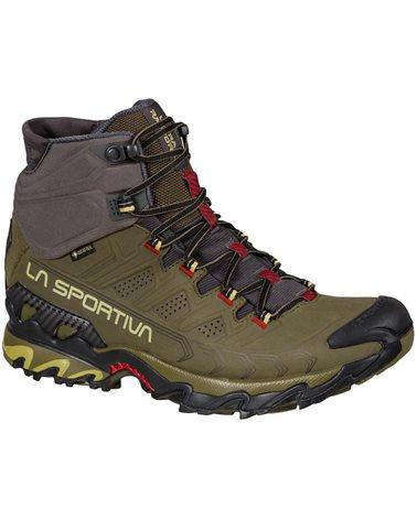 La Sportiva Ultra Raptor II MID Leather GTX Gore-Tex Men's Speed Hiking Shoes, Ivy/Tango