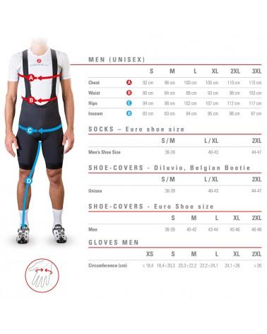 Castelli Gregge 15 Merino Whool Cycling Socks, Black Red