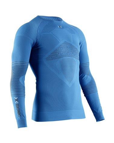 X-Bionic Energizer 4.0 Men's Multisport Long Sleeve Round Neck Shirt, Teal Blue/Anthracite