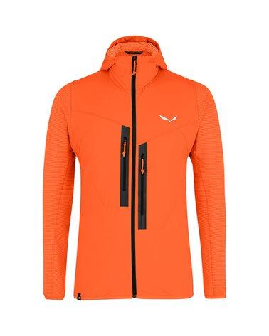 Salewa Rolle PLR Polarlite Responsive Men's Hooded Jacket, Red Orange