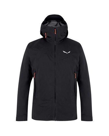 Salewa Marmolada Powertex 3L Men's Waterproof/Windproof Hardshell Jacket, Black Out