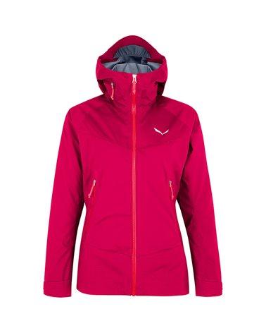 Salewa Marmolada Powertex 3L Women's Waterproof/Windproof Hardshell Jacket, Virtual Pink/6080