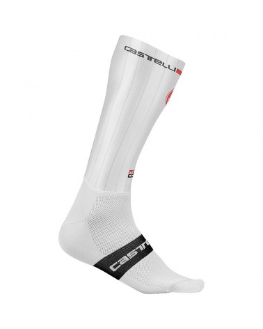 Castelli Fast Feet Calze Ciclismo Unisex in Lycra, White