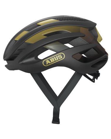 Abus AirBreaker Road Cycling Helmet, Black/Gold