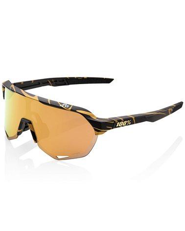 100% S2 Glasses Peter Sagan LE Metallic Gold Flake - Hiper Gold Mirror Lens + Clear Lens