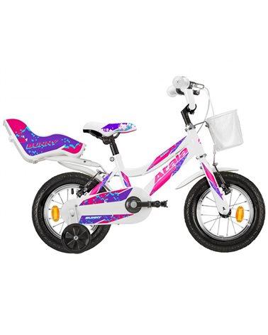 "Atala Bunny Girl 12"" 1s, White/Purple"