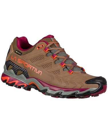 La Sportiva Ultra Raptor II Leather GTX Gore-Tex Women's Hiking Shoes, Taupe/Red Plum