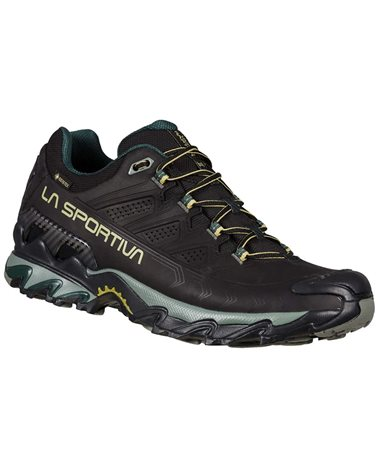 La Sportiva Ultra Raptor II Leather GTX Gore-Tex Men's Hiking Shoes, Black/Cedar