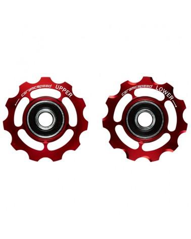CeramicSpeed 101694 Pulegge Shimano 11s road Rosso