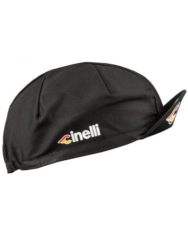 Cinelli Supercorsa Cappellino Ciclismo, Nero (Taglia Unica)