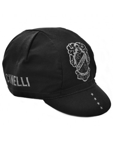 Cinelli Crest Cycling Cap, Black (One Size)