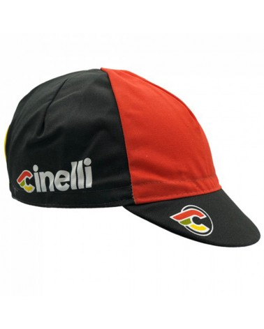 Cinelli Italo 79 Cycling Cap, Black (One Size Fits All)