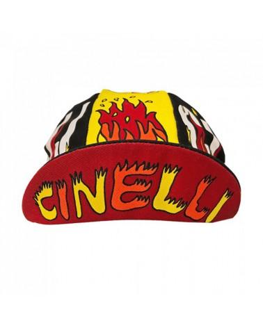 Cinelli Anna Benaroya Fire Cappellino Ciclismo (Taglia Unica)