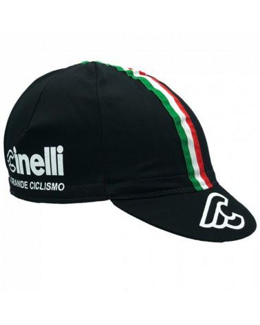 Cinelli Il Grande Ciclismo Cycling Cap, Black Ita (One Size Fits All)