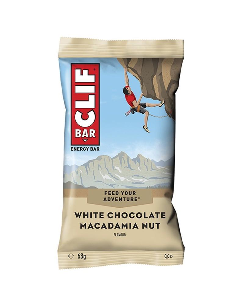 Clif Bar Barretta Energetica Cioccolato Bianco/Macadamia - Box 12 Barrette da 68gr