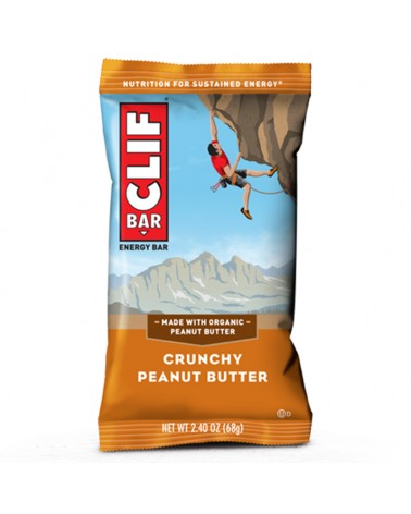 Clif Bar Energy Bar Crunchy Peanut Butter 68gr - Box 12 Bars