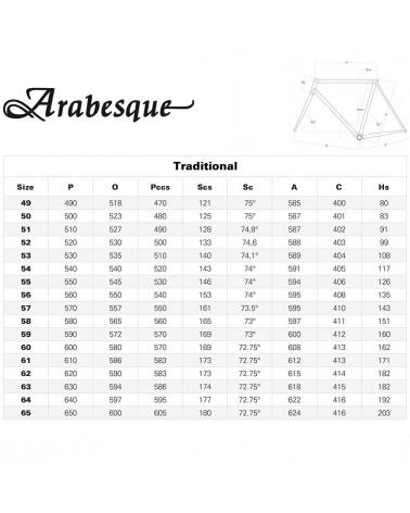Colnago Kit Telaio Arabesque - Forcella Precisa Steel - RARD