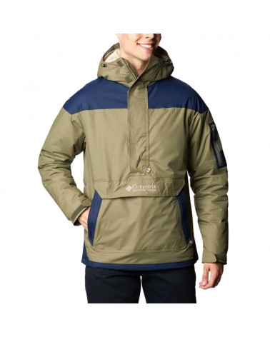 Columbia Challenger Pullover Men's Insulated Jacket, Stone Green/Collegiate Navy