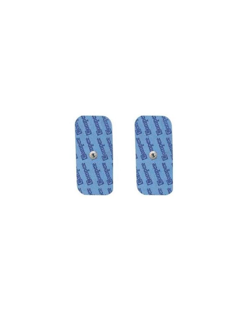 Compex Elettrodi a Bottone EasySnap Performance 1 Busta da 2 Pezzi Rettangolari 5 x 10 cm 1 Uscita