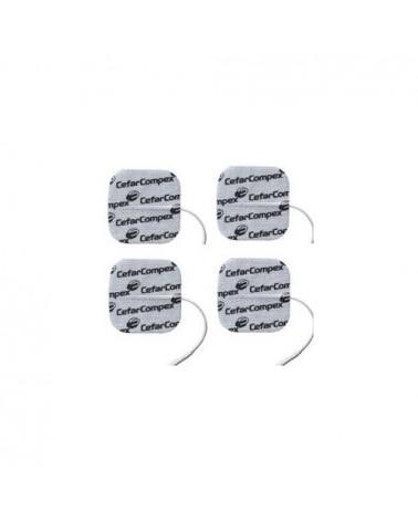 Compex Elettrodi EasySnap Performance a filo, 1 busta da 4 pezzi quadrati 5x5 cm