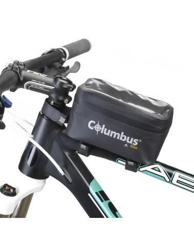 Columbus Frame Bag Borsa Stagna da Telaio 1 L con Porta Smartphone, Nero