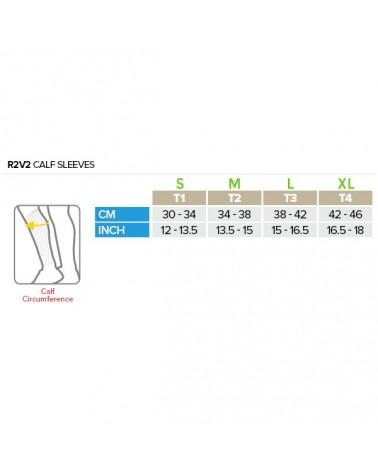 Compressport Calf UR2 V2 Gambaletti a Compressione Lenitivi, White