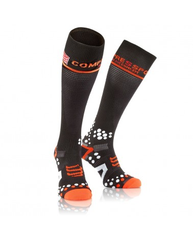 Compressport Full Socks V2.1 Calze a Compressione L, Black
