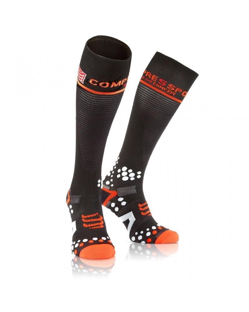 Compressport Full Socks V2.1 Calze a Compressione M, Black