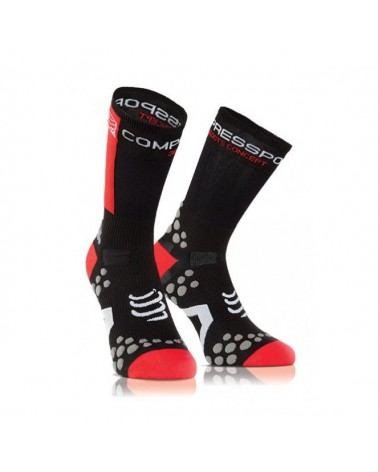 Compressport Pro Racing 3D Dots Socks V2.1 BIKE Calze High-Cut, Black/Red