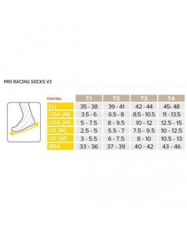 Compressport Racing Socks V3.0 Bike Calze a Compressione, Smart Black