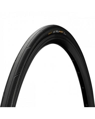 Continental Ultra Sport III 700 X 25C Folding Tyre, Black/Black Skin