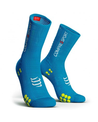 Compressport Racing Socks V3.0 Bike Calze a Compressione, Ice Blue