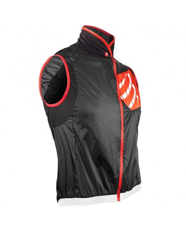 Compressport Cycling Hurricane WindProtect Vest Gilet Antivento, Black