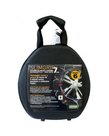 Snow Chains for Car Tyres 175/70-14 R14 Ultra Thin, 7 mm, Approved