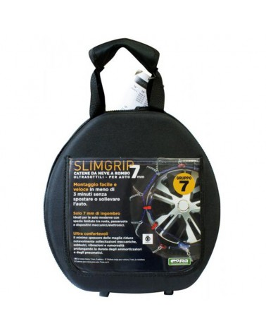 Snow Chains for Car Tyres 175/70-15 R15 Ultra Thin, 7 mm, Approved