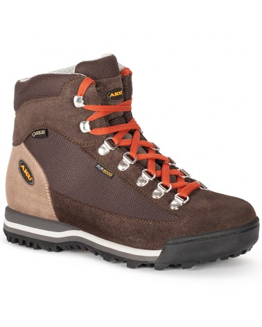 Aku Ultra Light Micro GTX Gore-Tex Women's Trekking Boots, Dark Brown/Brick