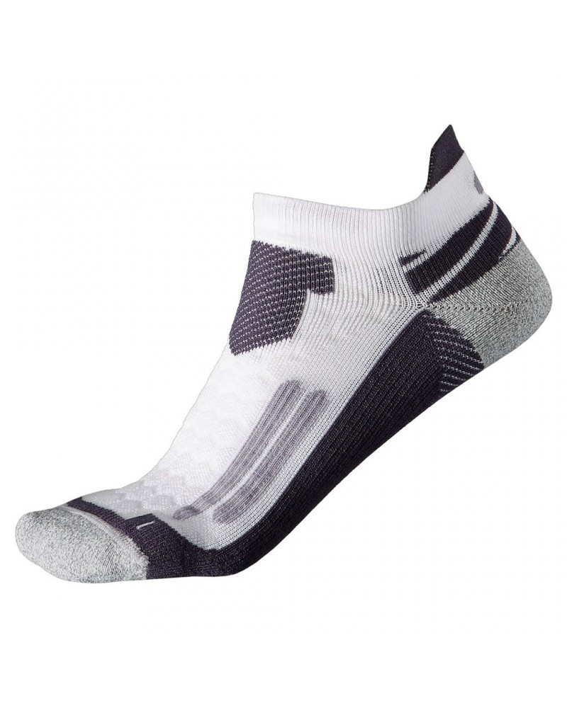 Asics Calze Nimbus ST Sock, Real White/Dark Grey (Unisex)