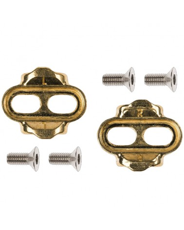 Crank Brothers Standard Release 15° - 6° MTB Cleat Kit, Gold