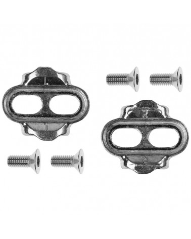 Crank Brothers Standard Release 15° - 0° MTB Cleat Kit, Silver