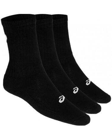 Asics 3PPK  Crew Socks, Black (3 Pack)