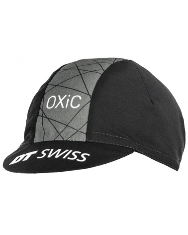 DT Swiss Oxic Road Cycling Cap, Black/Grey (One Size Fits All)