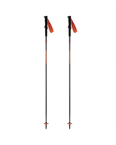 Dynafit Transalper Pro Bastoncino Pieghevole Trail Running in Carbonio 130cm, Black/Orange (Coppia)