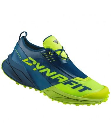 Dynafit Ultra 100 Men's Trail Running Shoes, Poseidon/Fluo Yellow